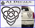 Celtic Creator Knot Decal Sticker Carbon Fiber Black 120x97