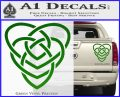 Celtic Creator Knot Decal Sticker Green Vinyl 120x97