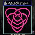 Celtic Creator Knot Decal Sticker Hot Pink Vinyl 120x120