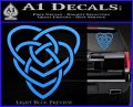 Celtic Creator Knot Decal Sticker Light Blue Vinyl 120x97