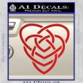 Celtic Creator Knot Decal Sticker Red Vinyl 120x120