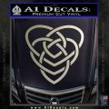 Celtic Creator Knot Decal Sticker Silver Vinyl 120x120