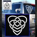 Celtic Creator Knot Decal Sticker White Emblem 120x120