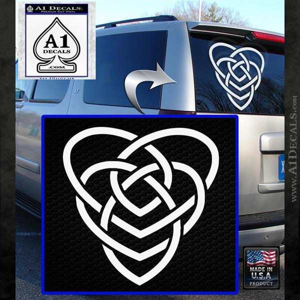 Celtic Creator Knot Decal Sticker White Emblem