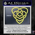 Celtic Creator Knot Decal Sticker Yelllow Vinyl 120x120