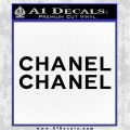 Chanel Decal Sticker 2pk Black Logo Emblem 120x120