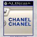 Chanel Decal Sticker 2pk Blue Vinyl 120x120