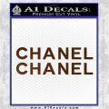 Chanel Decal Sticker 2pk Brown Vinyl 120x120