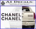 Chanel Decal Sticker 2pk Carbon Fiber Black 120x97