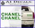 Chanel Decal Sticker 2pk Green Vinyl 120x97