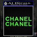 Chanel Decal Sticker 2pk Lime Green Vinyl 120x120