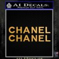 Chanel Decal Sticker 2pk Metallic Gold Vinyl 120x120