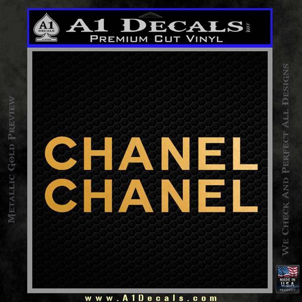 Chanel Decal Sticker 2pk Metallic Gold Vinyl