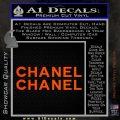 Chanel Decal Sticker 2pk Orange Vinyl Emblem 120x120