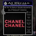 Chanel Decal Sticker 2pk Pink Vinyl Emblem 120x120