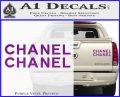 Chanel Decal Sticker 2pk Purple Vinyl 120x97