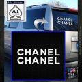 Chanel Decal Sticker 2pk White Emblem 120x120