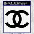 Chanel Decal Sticker CC Black Logo Emblem 120x120