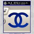 Chanel Decal Sticker CC Blue Vinyl 120x120