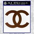 Chanel Decal Sticker CC Brown Vinyl 120x120