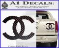 Chanel Decal Sticker CC Carbon Fiber Black 120x97