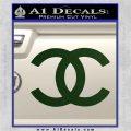 Chanel Decal Sticker CC Dark Green Vinyl 120x120