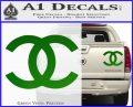 Chanel Decal Sticker CC Green Vinyl 120x97