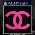 Chanel Decal Sticker CC Hot Pink Vinyl 120x120