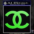 Chanel Decal Sticker CC Lime Green Vinyl 120x120