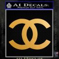 Chanel Decal Sticker CC Metallic Gold Vinyl 120x120