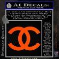 Chanel Decal Sticker CC Orange Vinyl Emblem 120x120