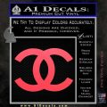 Chanel Decal Sticker CC Pink Vinyl Emblem 120x120