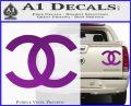 Chanel Decal Sticker CC Purple Vinyl 120x97