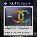 Chanel Decal Sticker CC Sparkle Glitter Vinyl 120x120