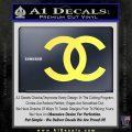 Chanel Decal Sticker CC Yelllow Vinyl 120x120
