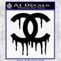 Chanel Dripping Decal Sticker Black Logo Emblem 120x120