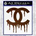 Chanel Dripping Decal Sticker Brown Vinyl 120x120