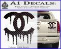 Chanel Dripping Decal Sticker Carbon Fiber Black 120x97