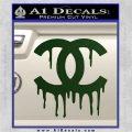 Chanel Dripping Decal Sticker Dark Green Vinyl 120x120