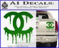 Chanel Dripping Decal Sticker Green Vinyl 120x97