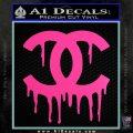 Chanel Dripping Decal Sticker Hot Pink Vinyl 120x120