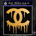 Chanel Dripping Decal Sticker Metallic Gold Vinyl 120x120