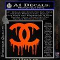 Chanel Dripping Decal Sticker Orange Vinyl Emblem 120x120