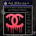 Chanel Dripping Decal Sticker Pink Vinyl Emblem 120x120