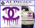Chanel Dripping Decal Sticker Purple Vinyl 120x97