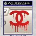 Chanel Dripping Decal Sticker Red Vinyl 120x120
