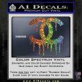 Chanel Dripping Decal Sticker Sparkle Glitter Vinyl 120x120