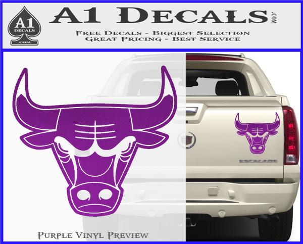 Chicago bulls decal sticker do purple vinyl 120x97