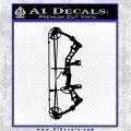Compound Bow Decal Sticker INT Black Logo Emblem 120x120