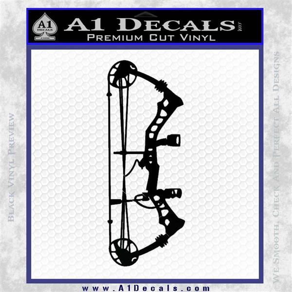 Compound Bow Decal Sticker INT Black Logo Emblem